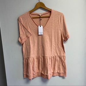 NWT BOUTIQUE BABYDOLL TOP - MEDIUM OR LARGE